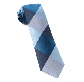 Navy West Bison Plaid ties