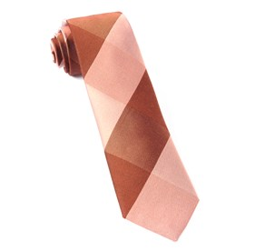 West Bison Plaid Orange Ties