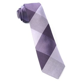 Purple West Bison Plaid ties