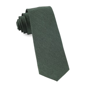 verge herringbone hunter green ties
