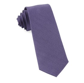 Verge Herringbone Purple Ties