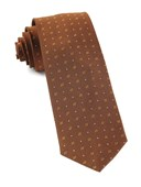 Ties - Geo Key - Burnt Orange