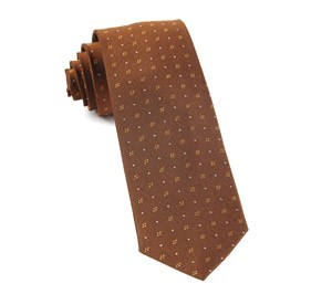 Geo Key Burnt Orange Ties
