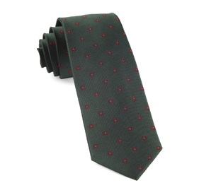 Floral Span Hunter Green Ties