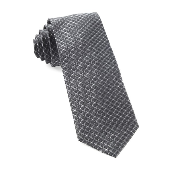 Grey Flower Network Tie