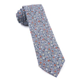 Grey Floral Buzz ties
