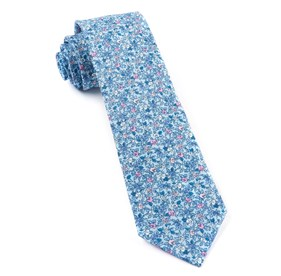 Sky Blue Floral Buzz ties