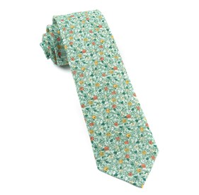 Moss Green Floral Buzz ties