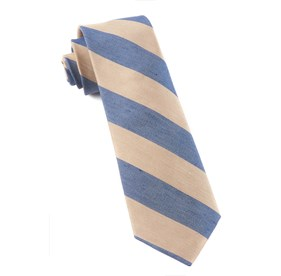 Champagne Levi Stripe ties