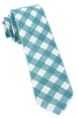 Ties - Open Air Checks - Green Teal