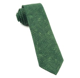 Palm Leaves Grass Green Ties