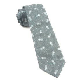 Grey Pineapple Toss ties