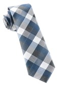 Ties - Pitch Plaid - Whale Blue