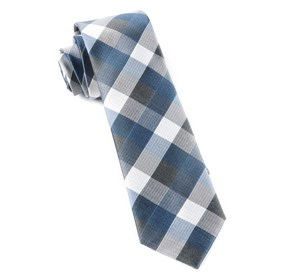 Whale Blue Pitch Plaid ties