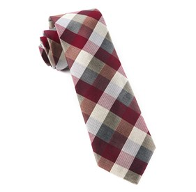 Burgundy Pitch Plaid ties