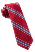 Ties - Rival Stripe - Burgundy