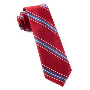 rival stripe red ties