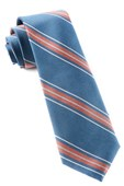 Ties - Rival Stripe - Coral