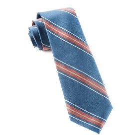 Coral Rival Stripe ties