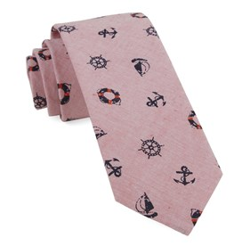On Deck Light Red Ties