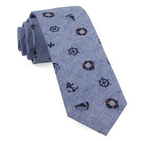 Warm Blue On Deck ties