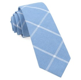 Knoxville Plaid Light Blue Ties