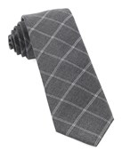 Ties - Plaid Graph - Grey