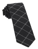 Ties - Plaid Graph - Black