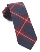 Ties - Reprint Plaid - Apple Red