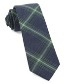 Ties - Reprint Plaid - Clover Green