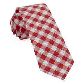 Red Trellis Plaid ties