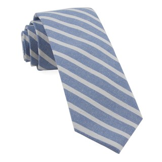 canopy stripe light blue ties
