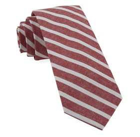Red Canopy Stripe ties