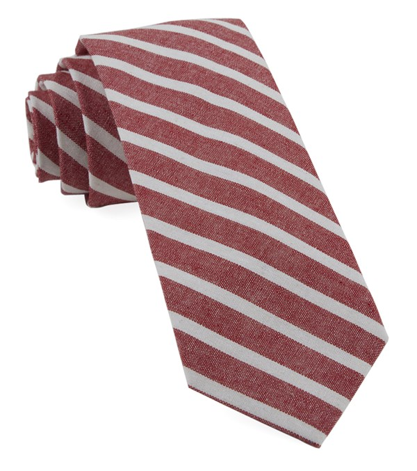 Canopy Stripe Red Tie