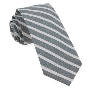 canopy stripe army green ties