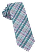 Ties - Ultraviolet Plaid - Pool Blue