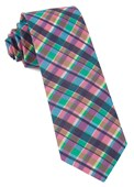 Ties - Ultraviolet Plaid - Hot Pink