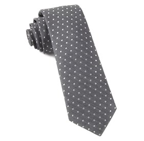 Charcoal Shock Dots ties