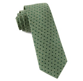 Clover Green Shock Dots ties
