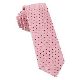 Baby Pink Shock Dots ties
