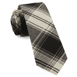 rancho plaid black ties