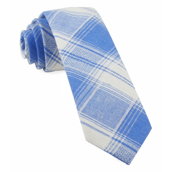 Light Blue Rancho Plaid Tie