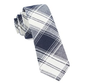 Navy Rancho Plaid ties