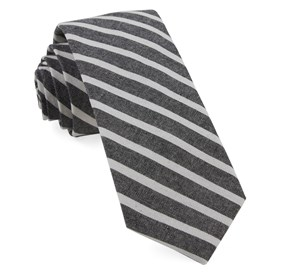 Charcoal Canopy Stripe ties