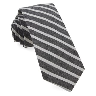 Canopy Stripe Charcoal Tie