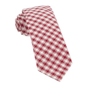 Red Mesh Plaid ties
