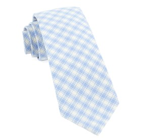 Light Blue Mesh Plaid ties