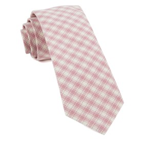 Baby Pink Mesh Plaid ties