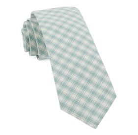 Mint Mesh Plaid ties