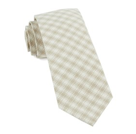 Light Champagne Mesh Plaid ties